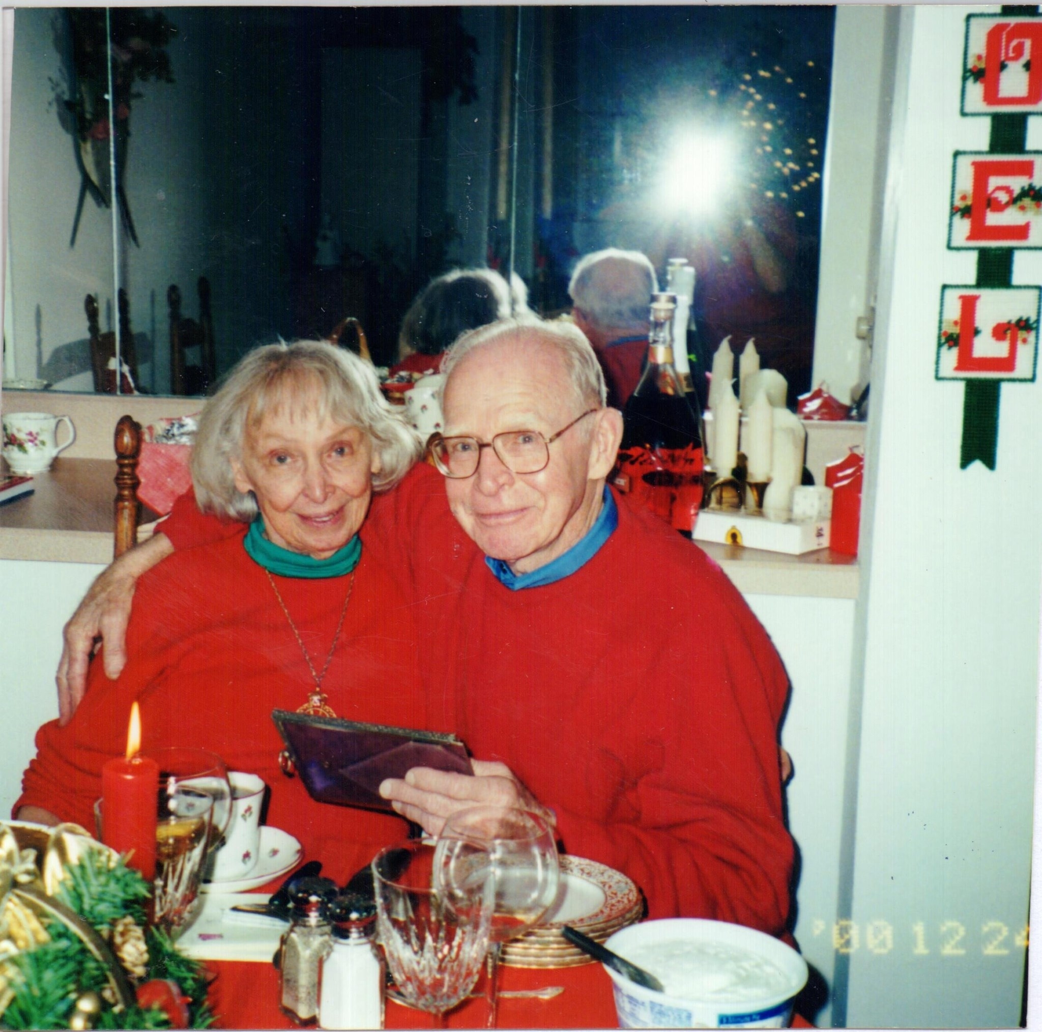 Bill and his sister, Xmas 2000
