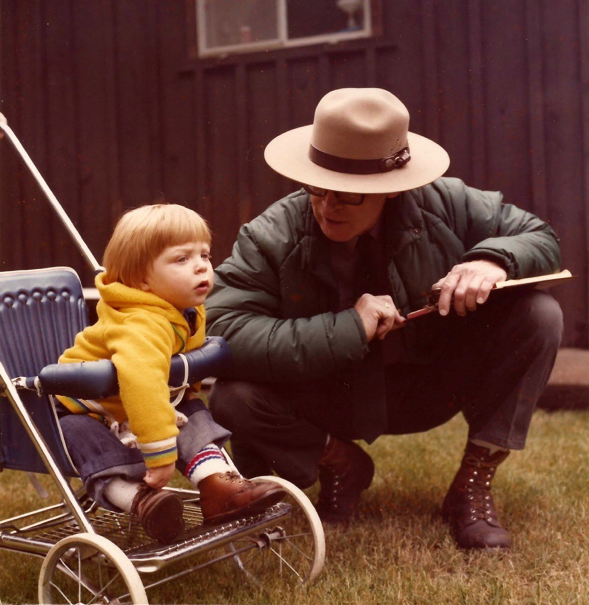 Dad and Will (age 1) Mt. Rainier 1978