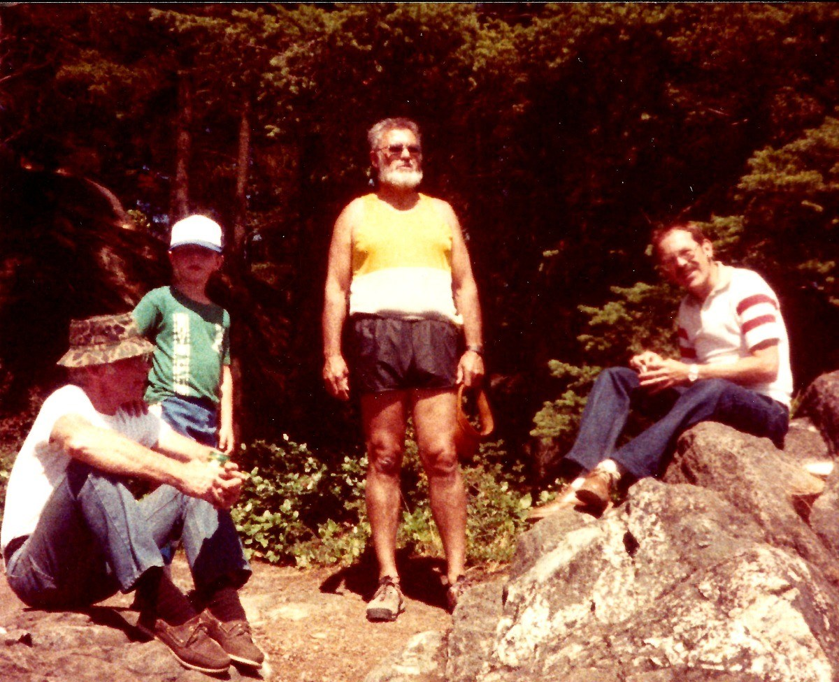 Climbing Mt. Erie Bill, Fred & Jim circa 1983
