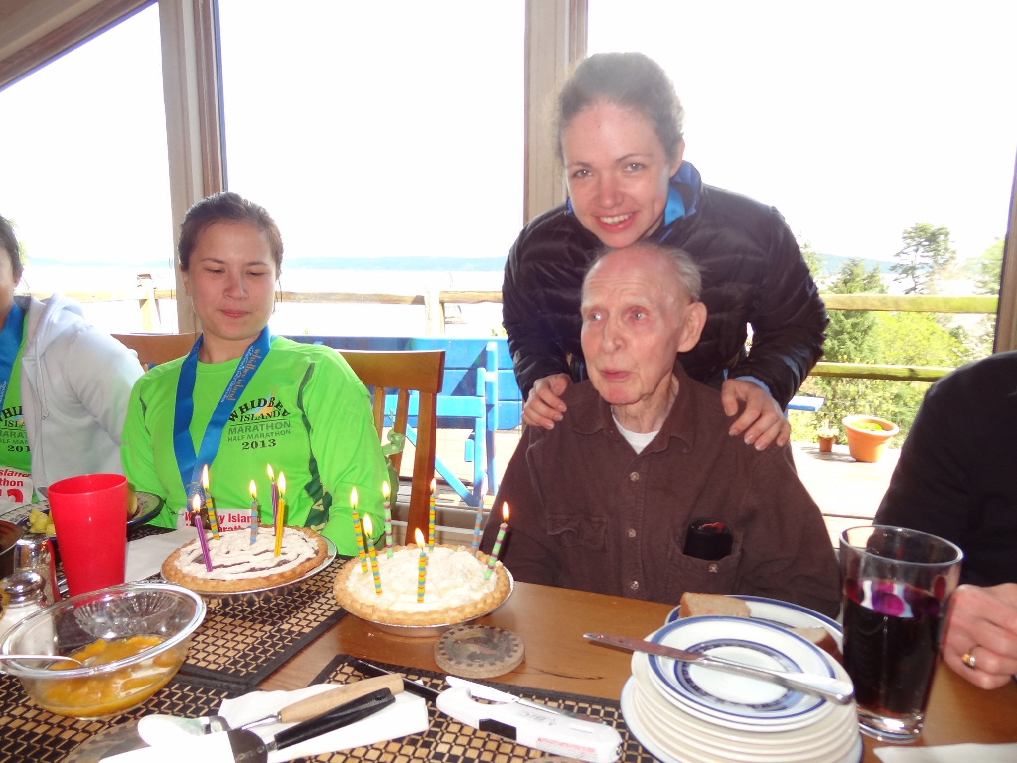 Happy Birthday, Grandpa Bill, after Bryn's half marathon