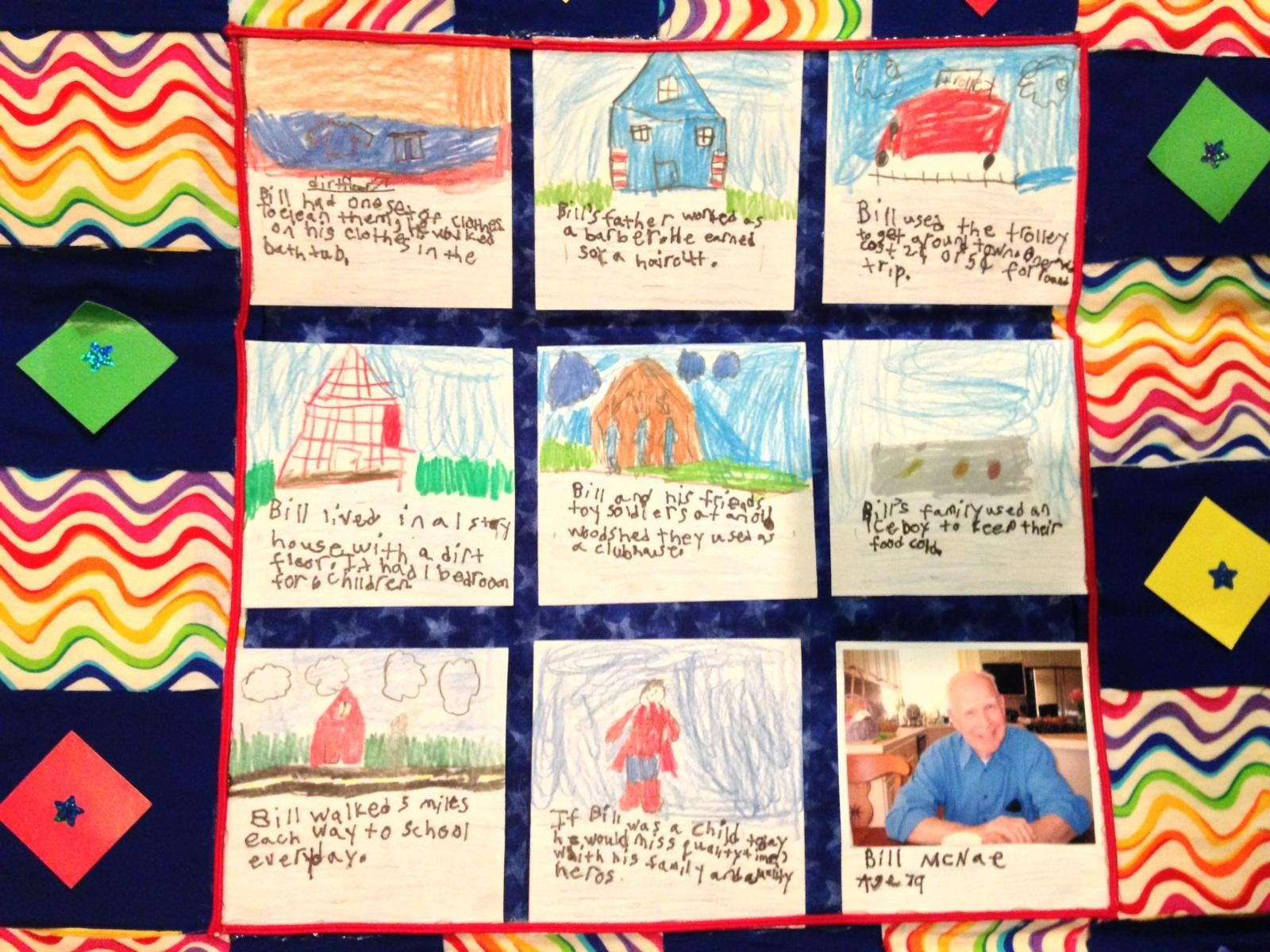 Colin-Schriever-3rd-grade-art-project (after interviewing Bill about his life)