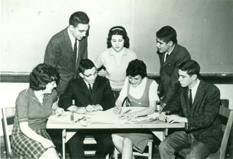 Bexley High School Torch 1961 - Karen Mercer 2d from right, 1st row