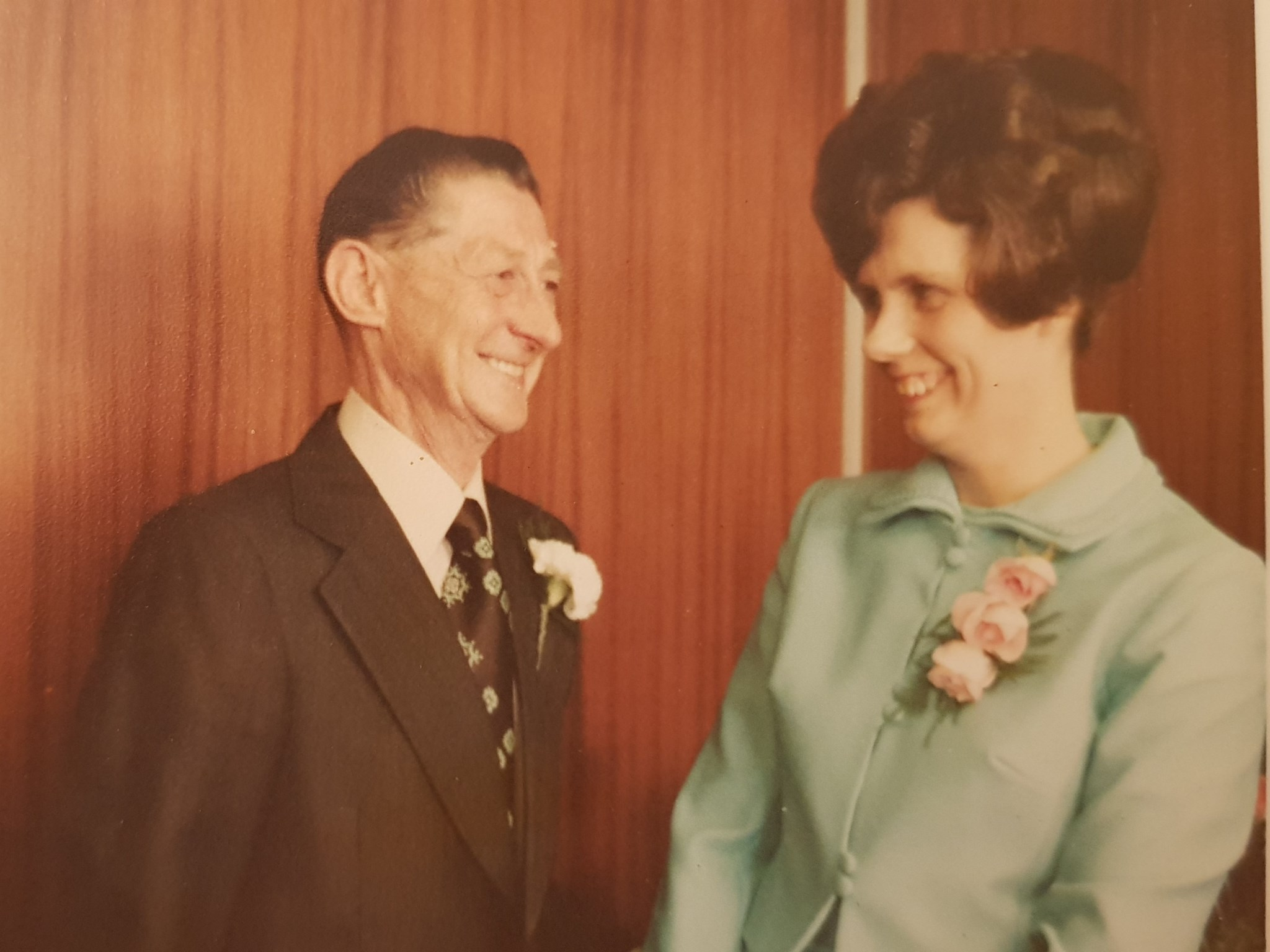 Happy Mum and Dad on their wedding day