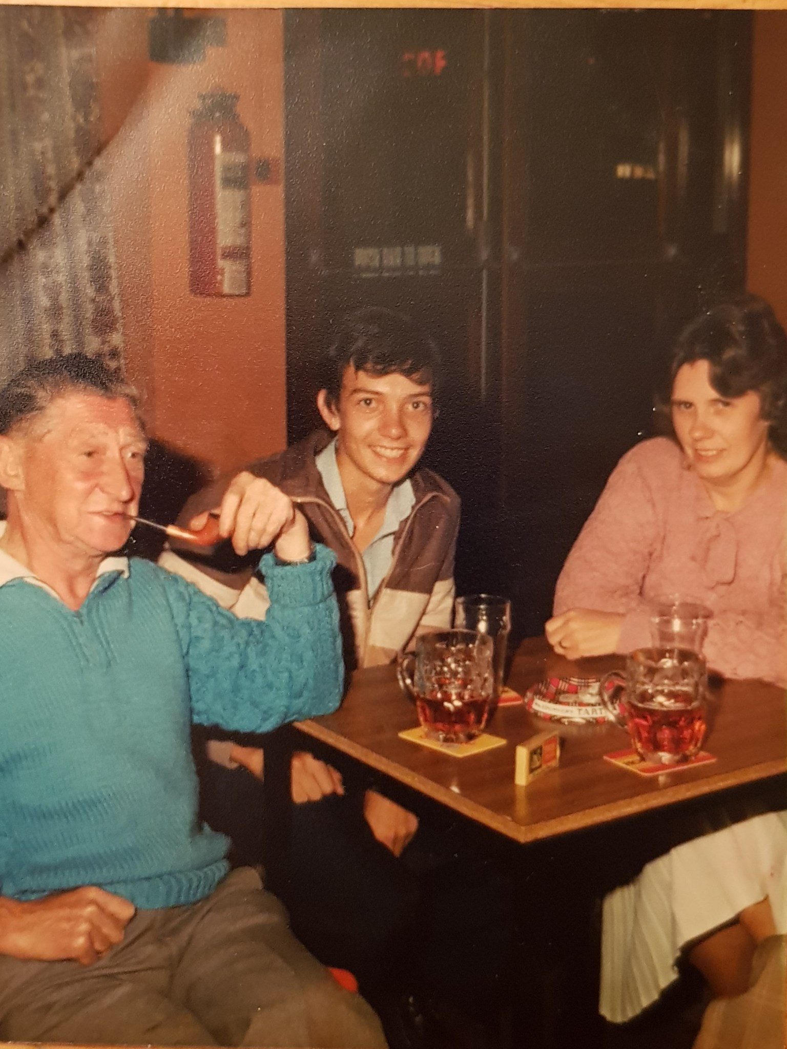 Me with Mum and Dad on holiday