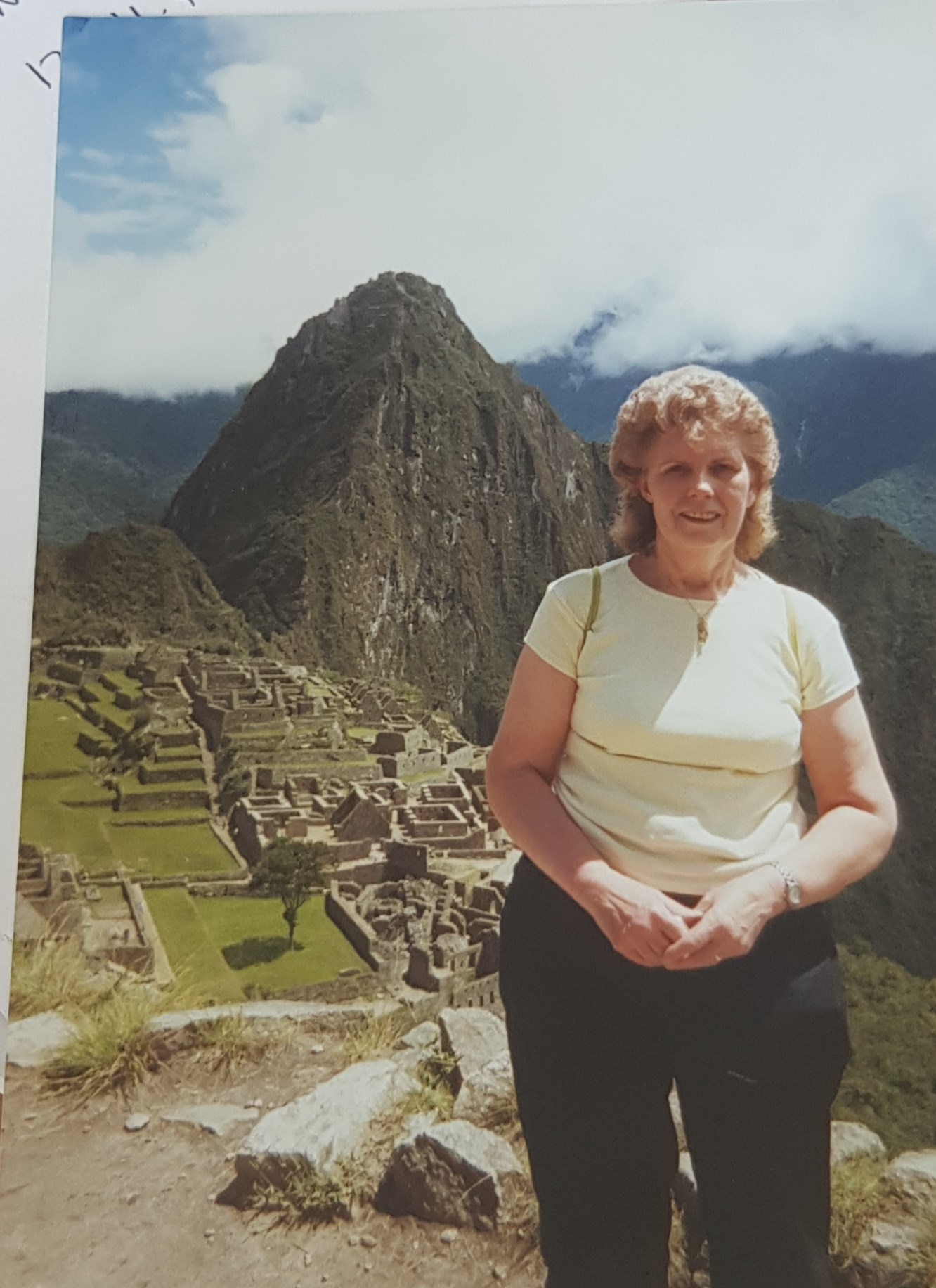 Machu Picchu, one of her favourite places that she visited