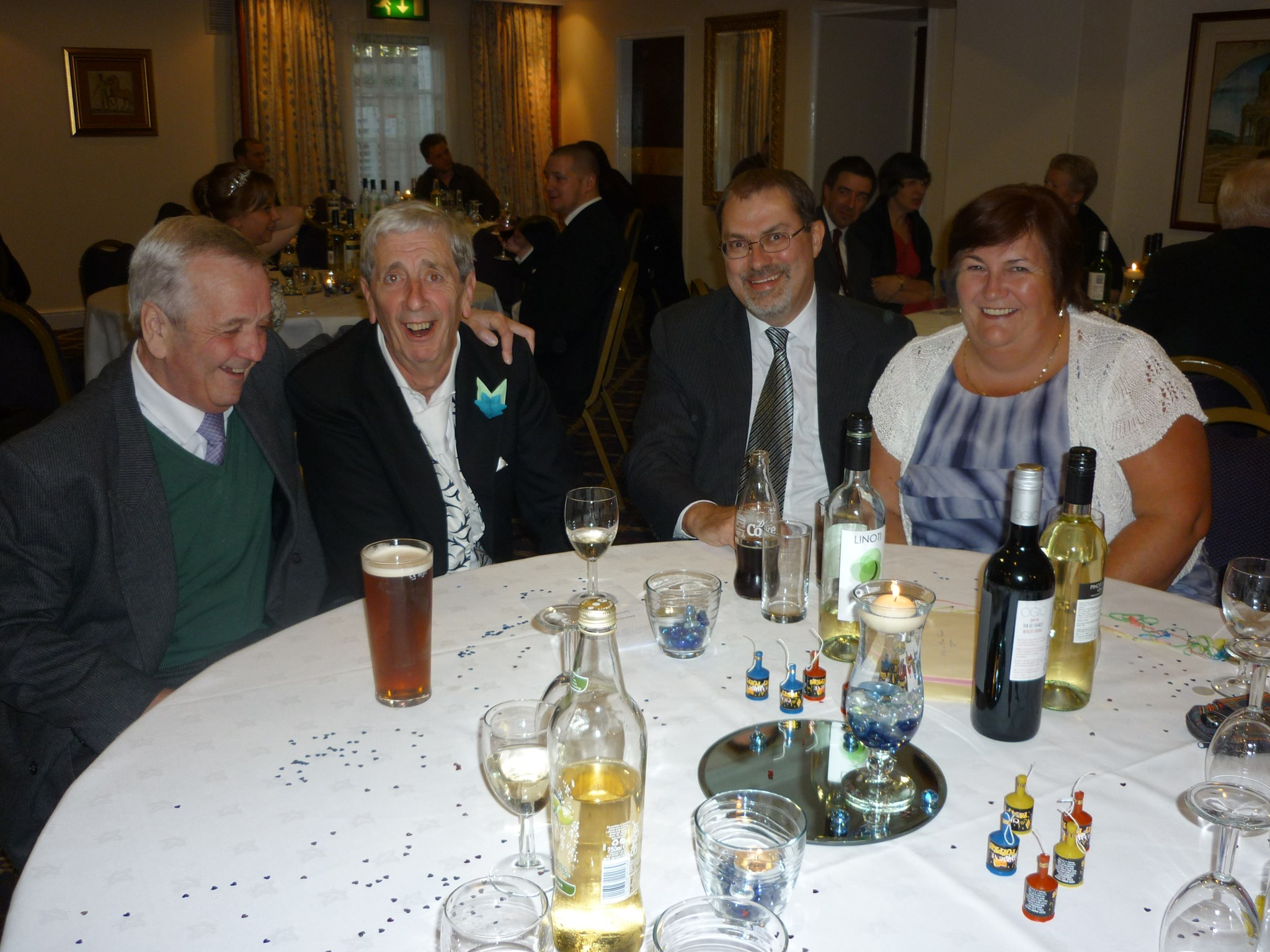 Russell, Jane & Bill with Colin @ Tim 's wedding - 2012