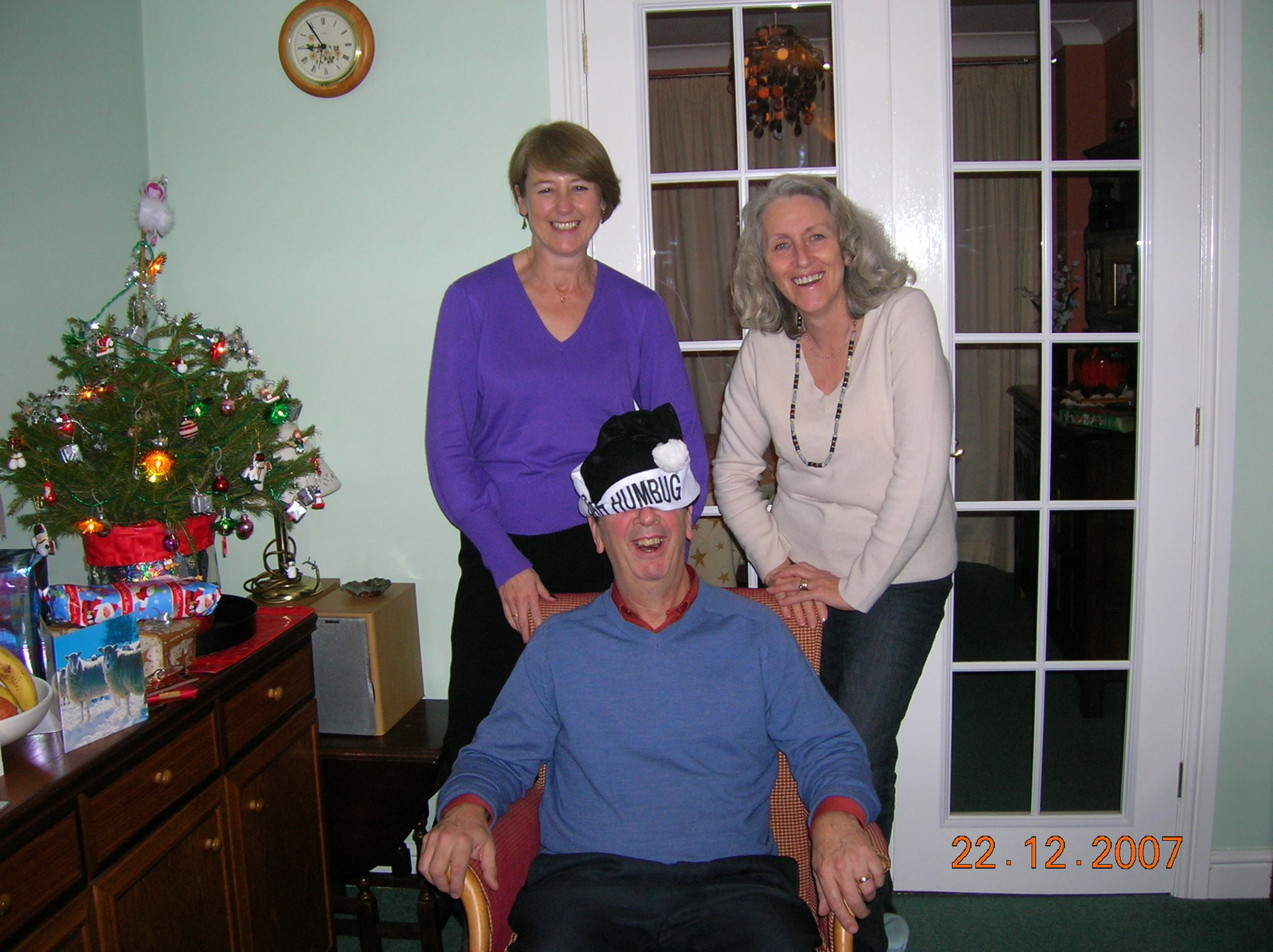 Celebrating Christmas with Christine & Jane in 2007