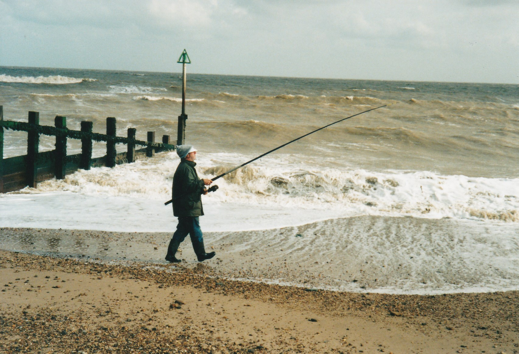 Fishing by the sea