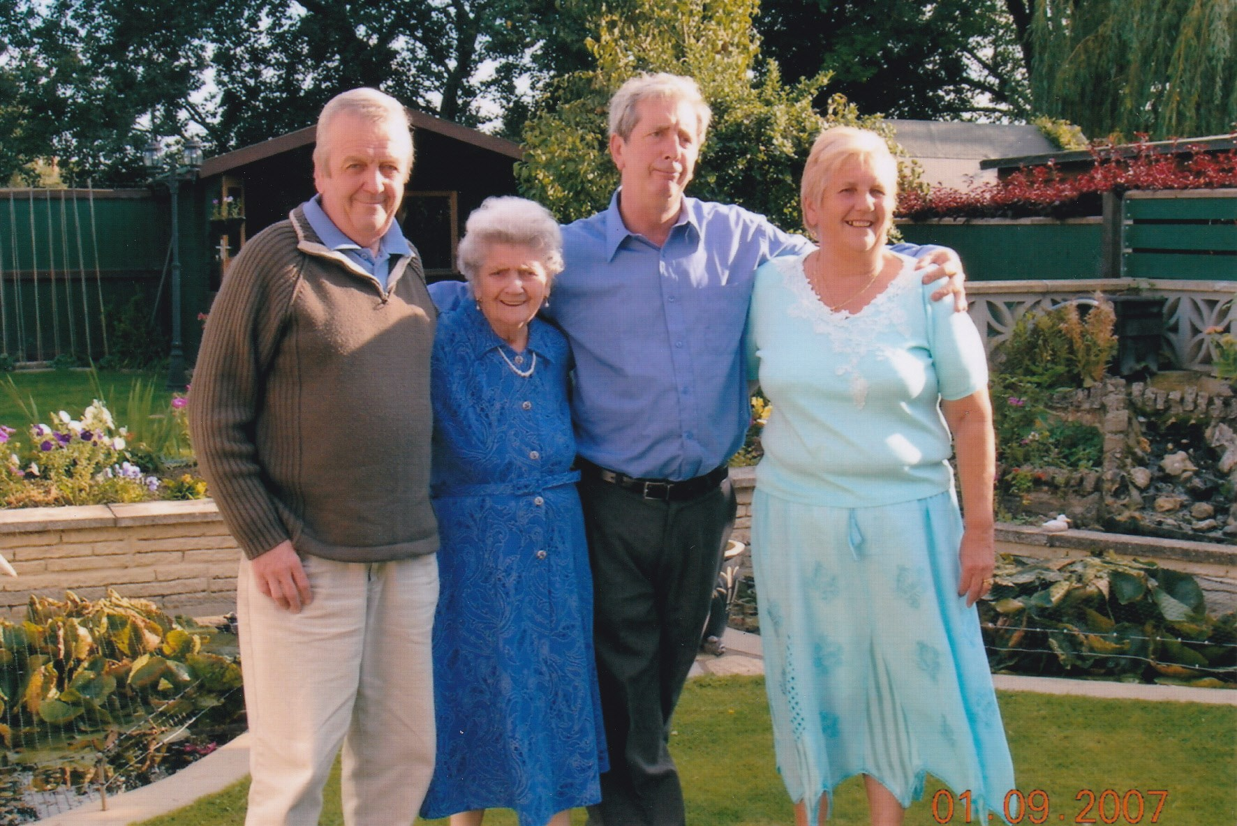 Colin with his Mum, Brother and Sister