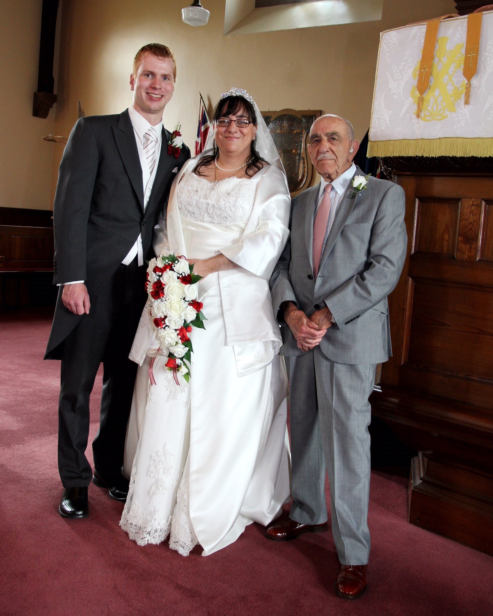 I was so proud of my grandad standing next to me in this pic on my wedding day