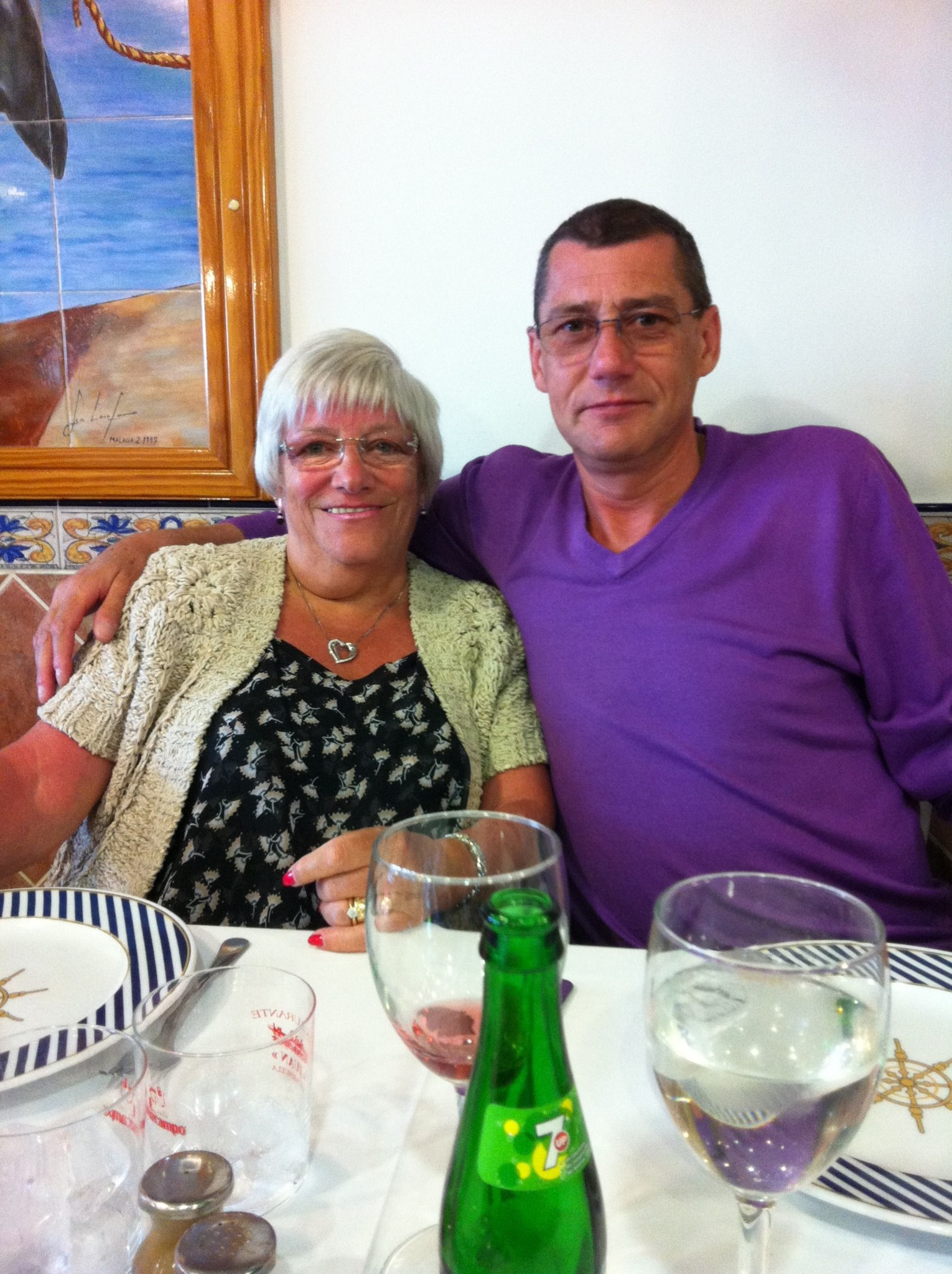 Jim and Auntie Sheila - Spain - 21st May 2012