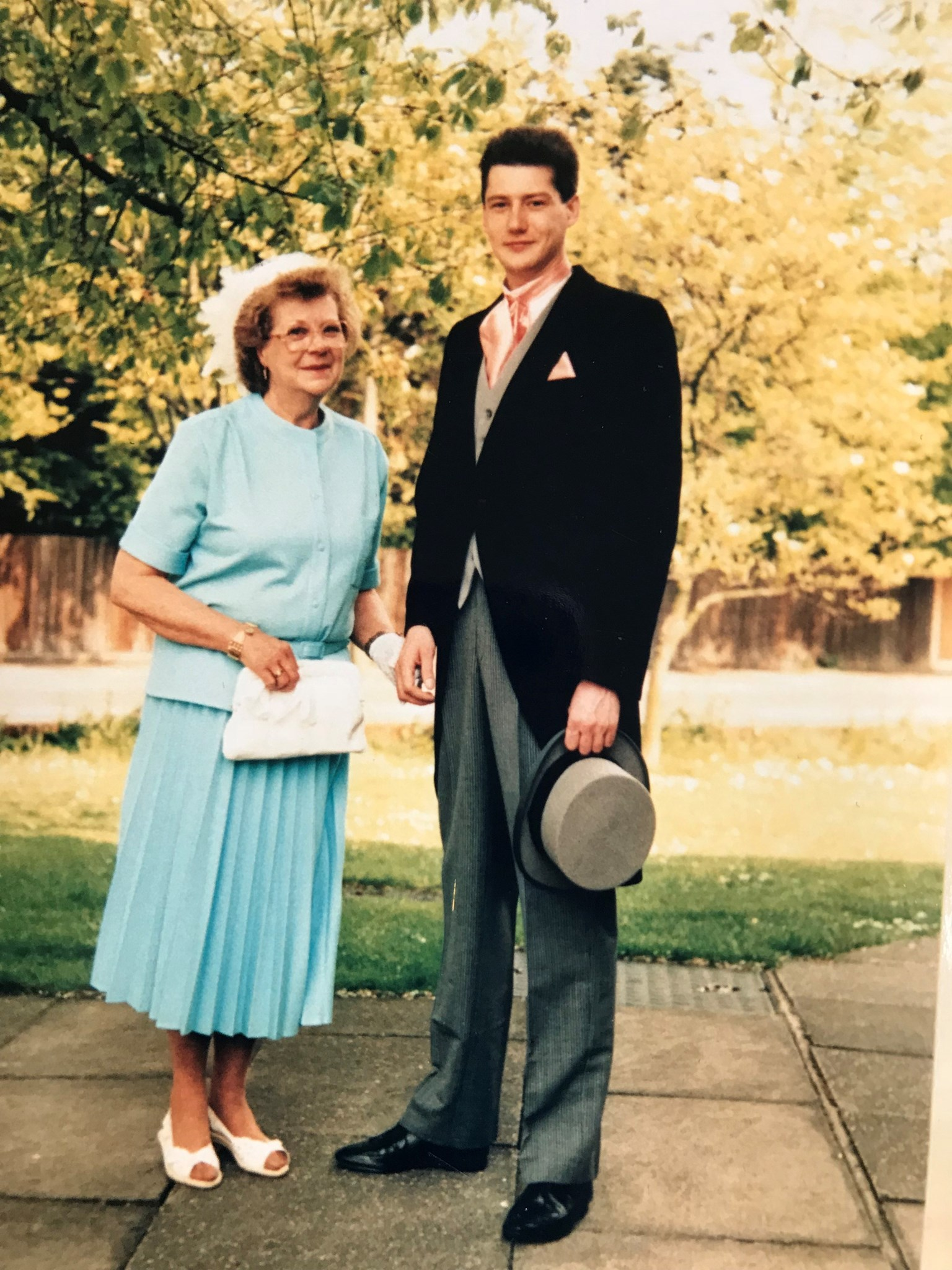Jim and his Mum - our Wedding - 14th May 1988
