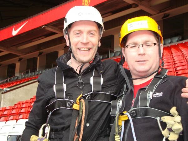 Philip and David on  the zip slide!