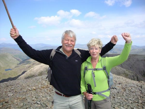 Mum & Chris at the top of Scafell Pike