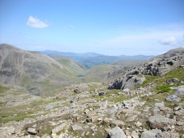 View from thew top of Scafell Pike