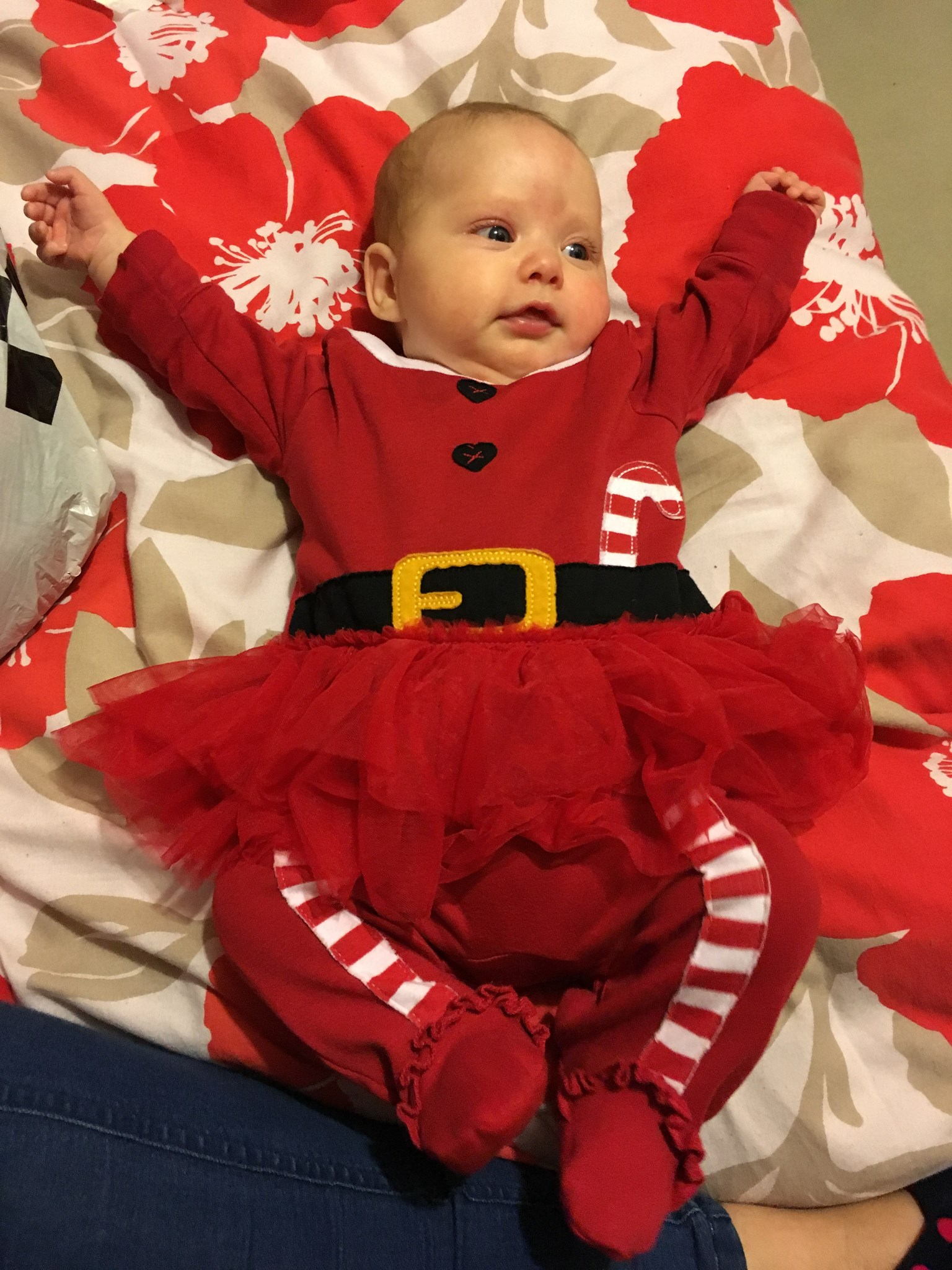 Hi Pops it was my first Christmas today love you Aria xx