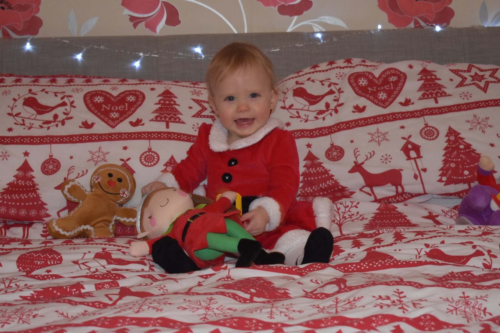Aria is all ready for Santa, we love you and miss you loads xxx