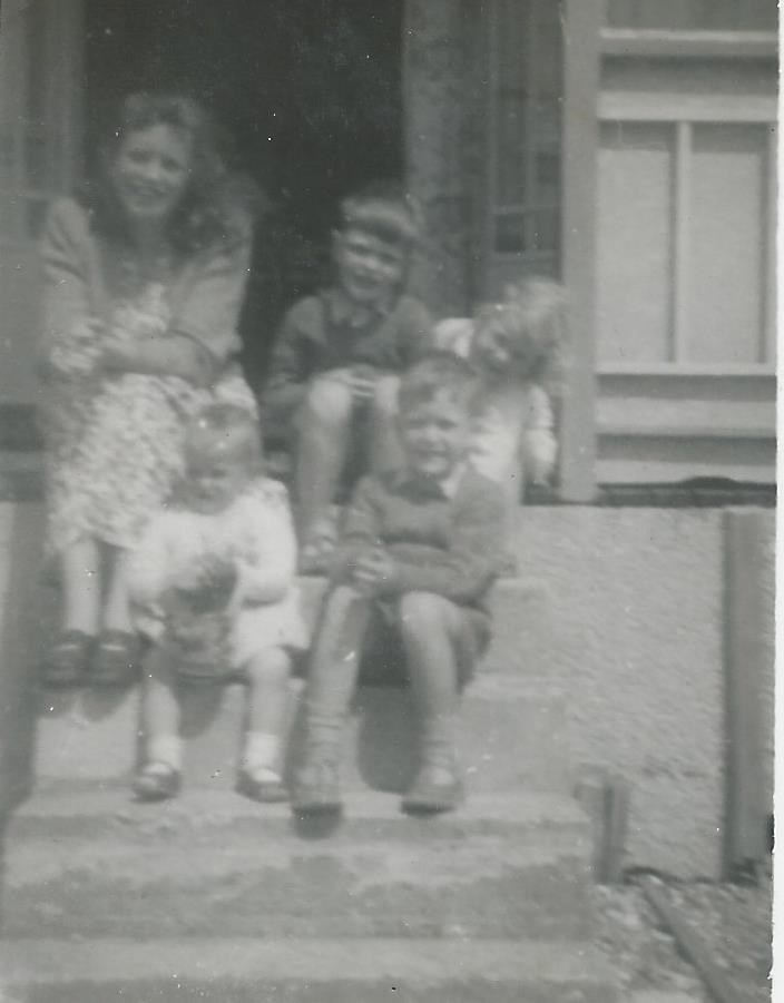 Dave, front right, on a family holiday, around 1953