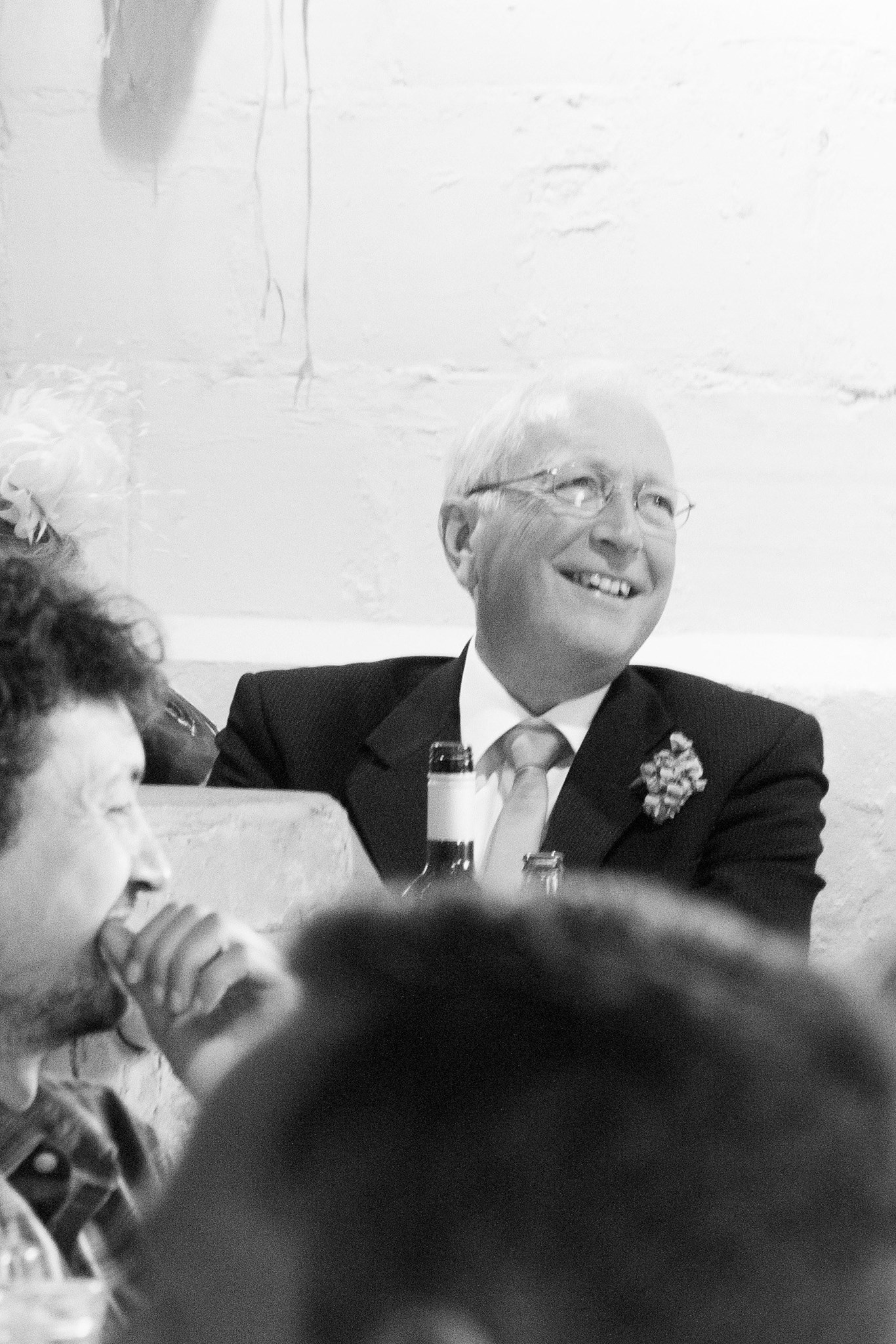 Dad enjoying the speeches on my wedding day June 2013