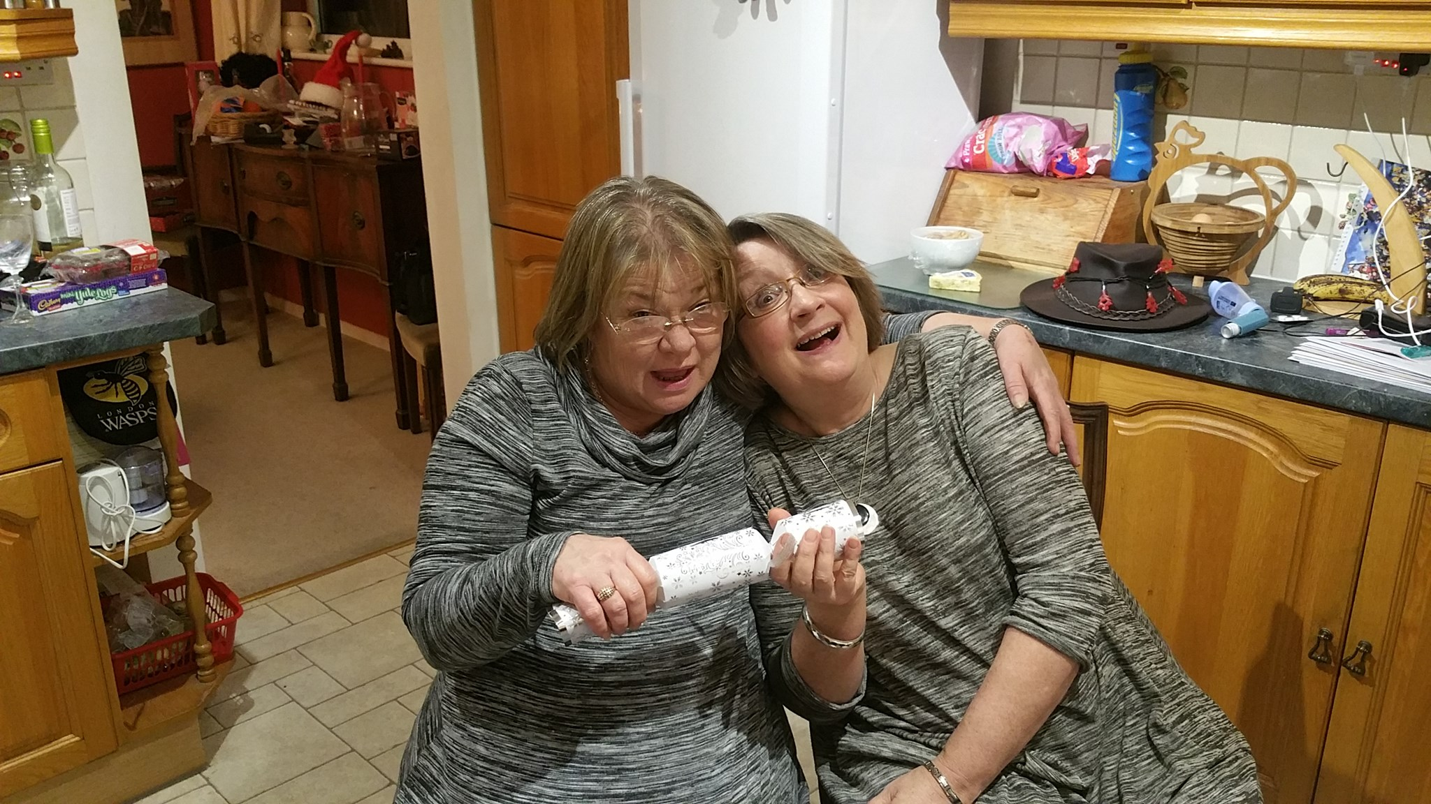 The night we were twins! In memory of Barbara, my lovely friend. Rose x