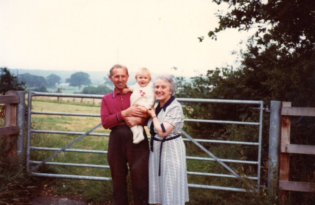 With Nan and Grandad