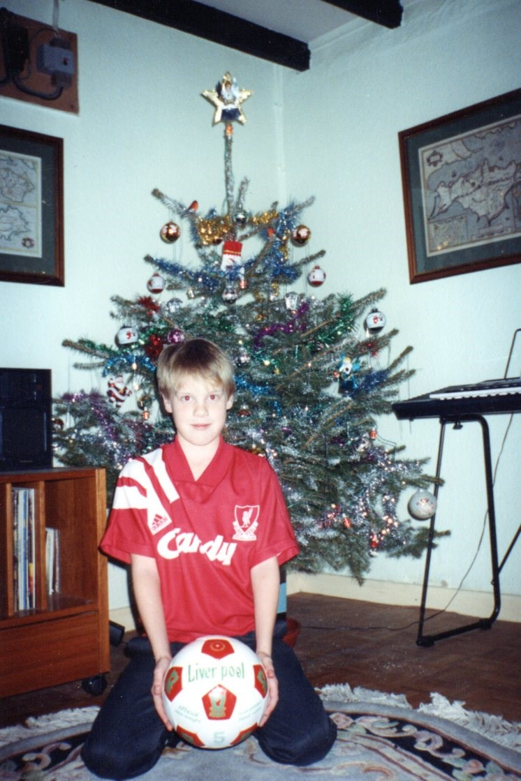 Christmas 91 - Supporting Liverpool