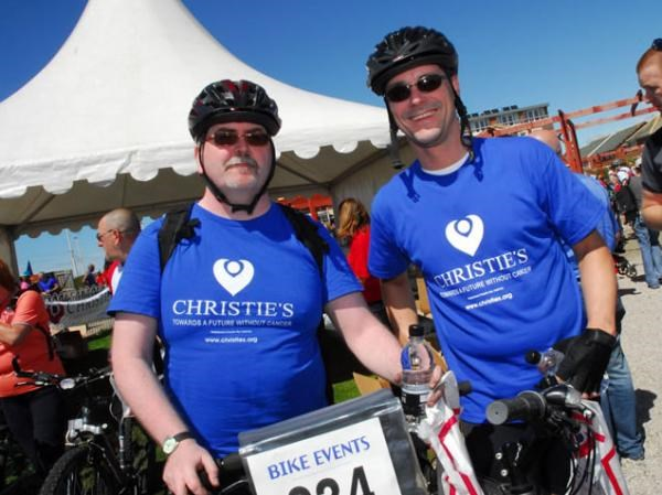 Fundraising for Christies - Manchester to Blackpool Bike Ride 2008