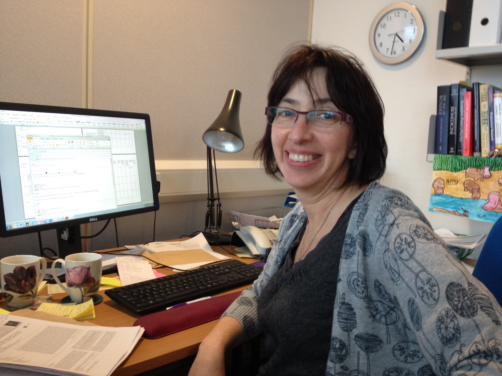 Julia in her office at the Centre for Primary Care, University of Manchester