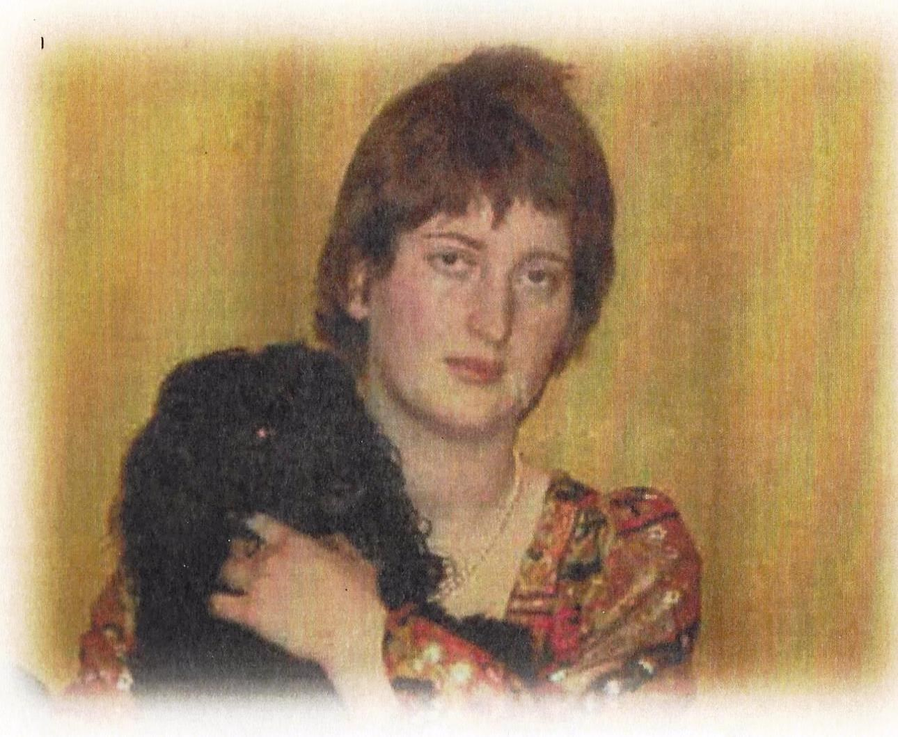 Sara Burdon with dog