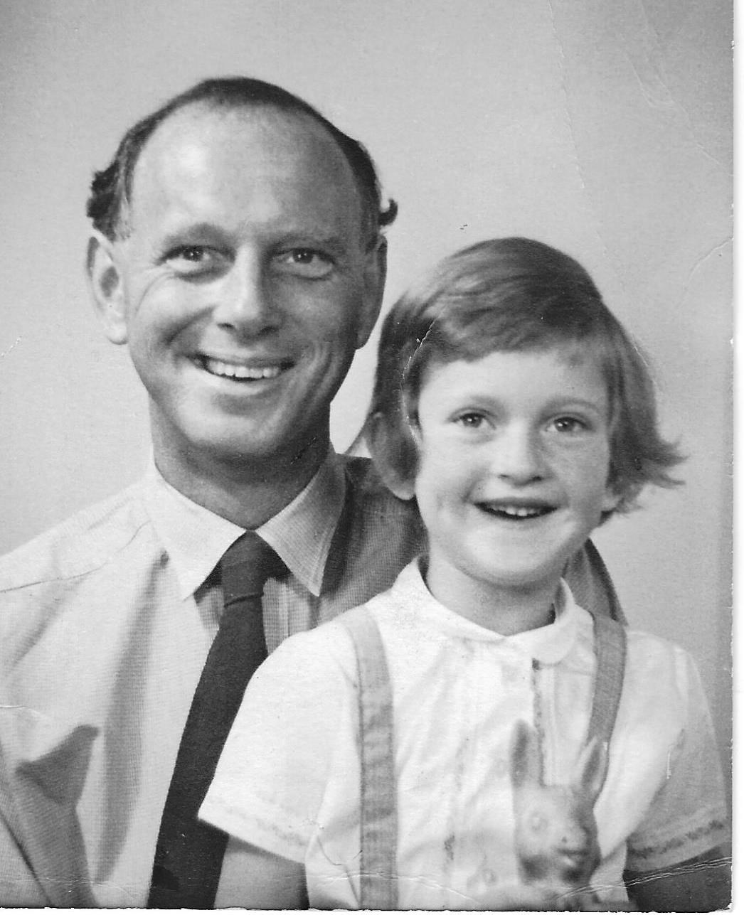 Sara Burdon as child with her father, Peter