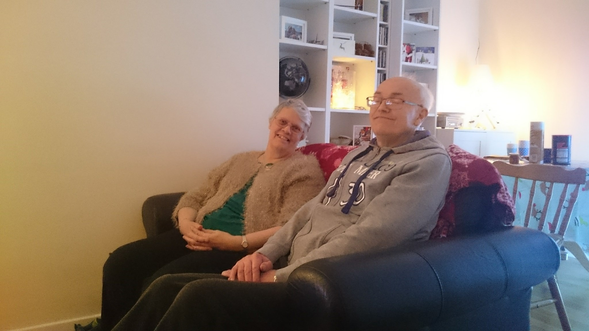 Dad & Mum at our house