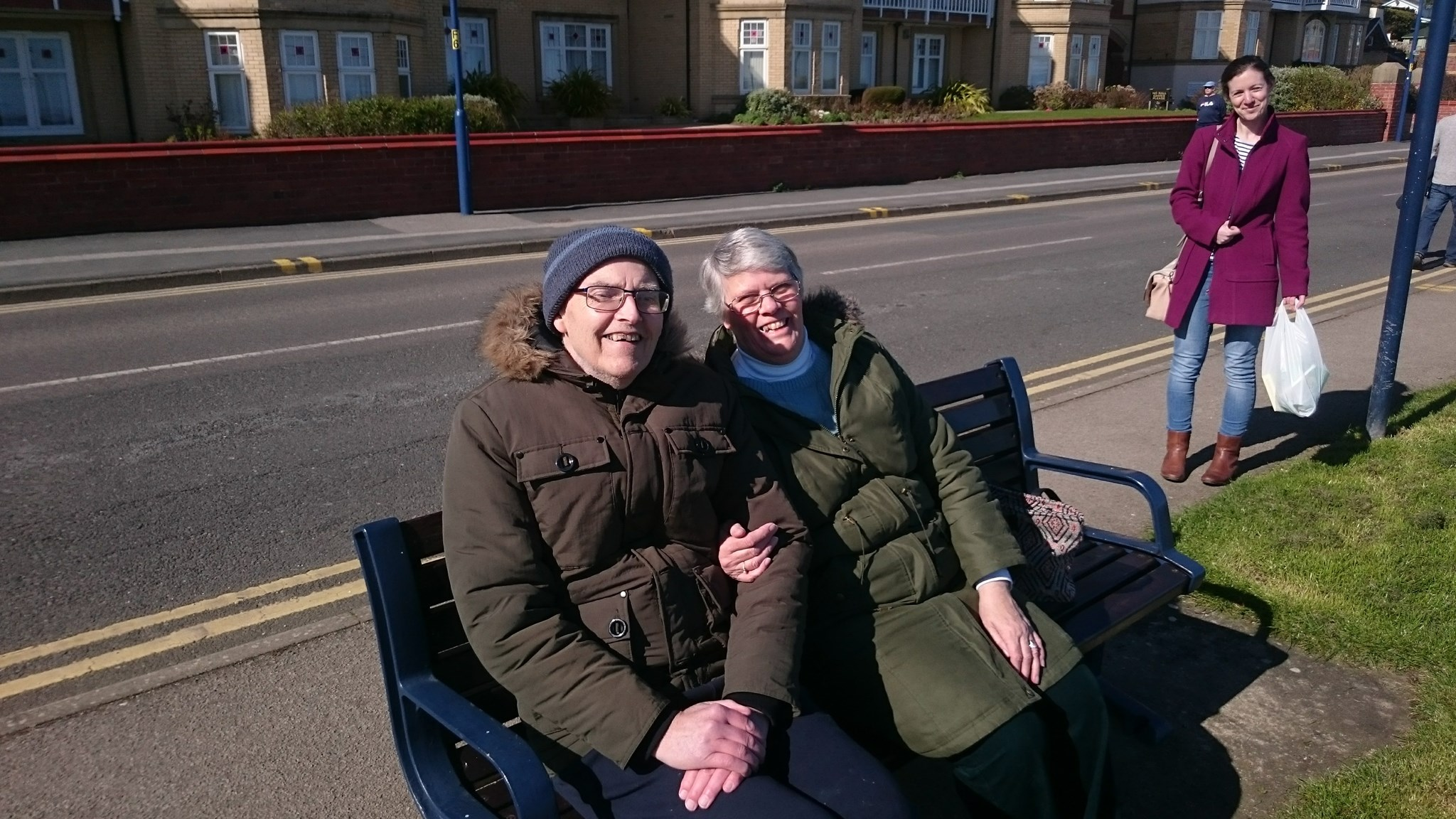 Dad and Mum (and Jo) in Filey (Dads favourite holiday destination) March 2017
