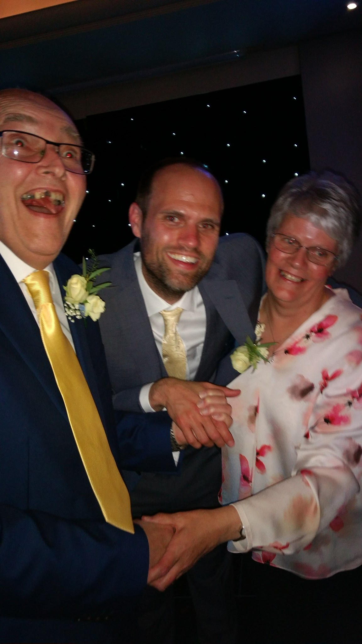 Dad on the dance floor at mine and Jos wedding - July 2017