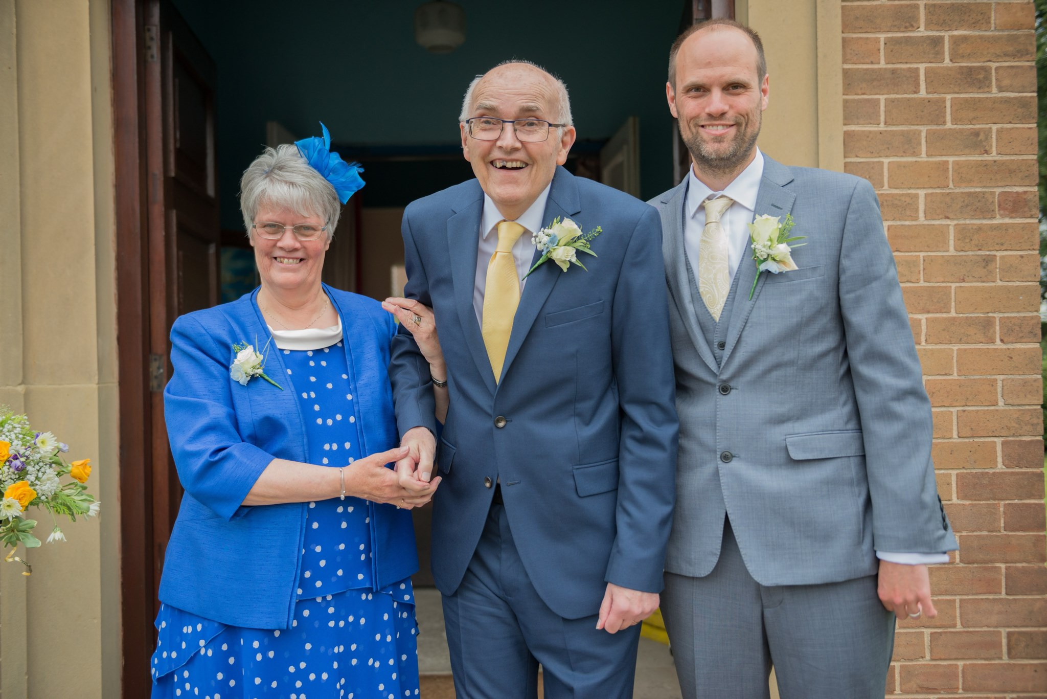 Dad with me and Mum on my Wedding Day - July 2017