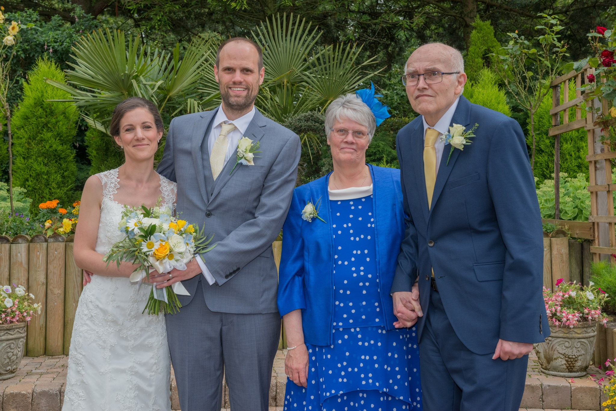Me, Jo, Dad & Mum - Our Wedding July 2017