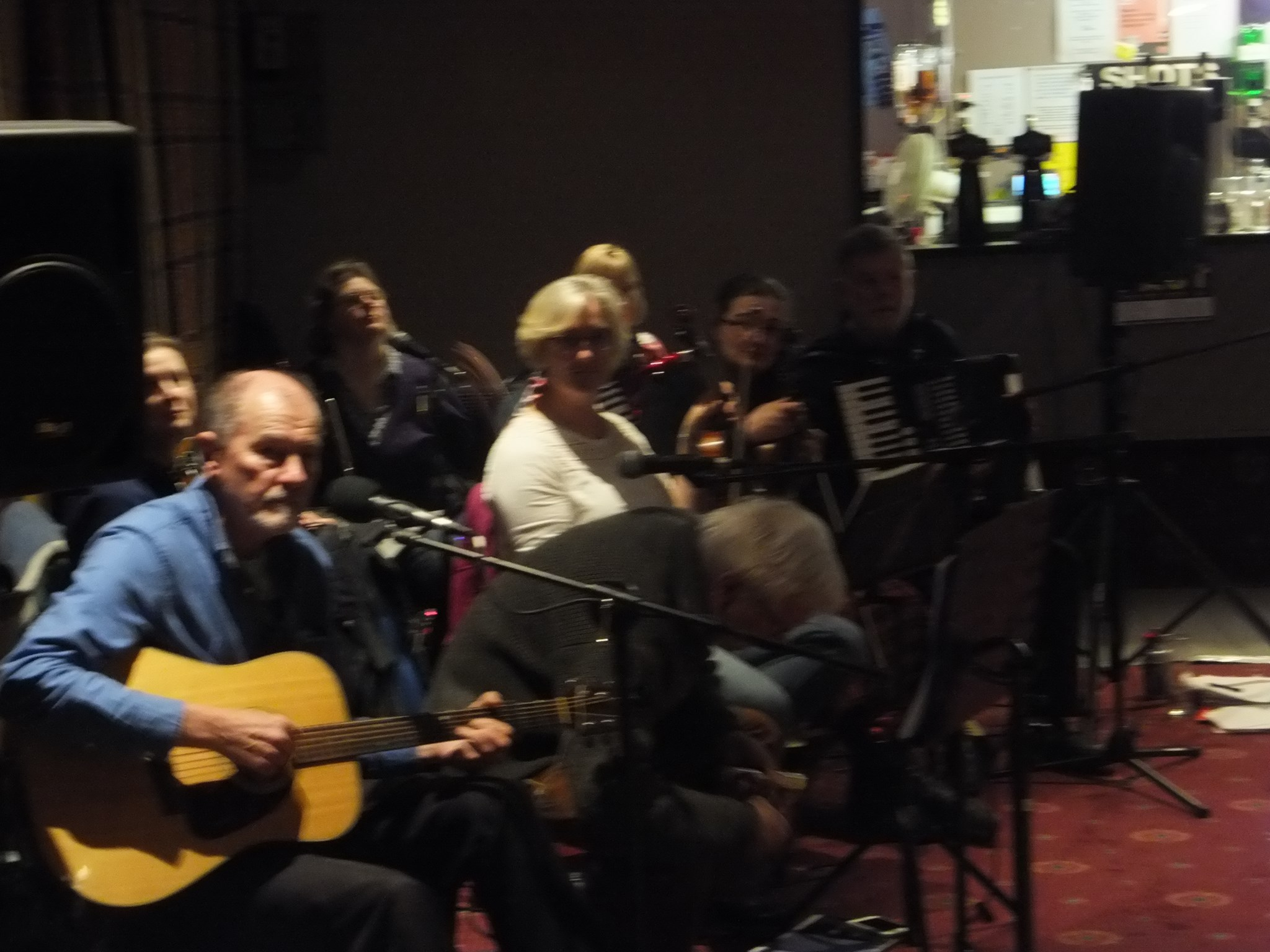 Riverside Ceilidh Band taking a breather!