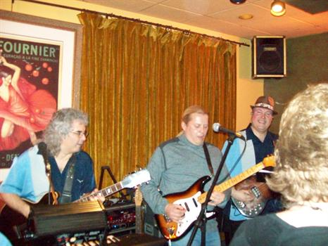Performing with Mark, ( left)at Chamber's in Niles, Il. with The StingRays 2/19/10