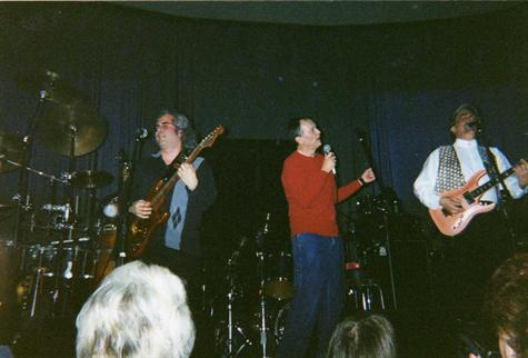 MARK WITH THE NEW COLONY SIX (RAY AND BRUCE) FEB 21,2002 AT THE HARD ROCK CAFE IN CHICAGO