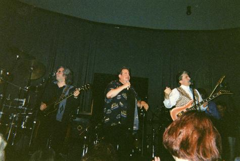 MARK WITH RONNIE RICE AND BRUCE THE NEW COLONY SIX AT THE HARD ROCK CAFE ON FEB 21,2002 IN CHICAGO