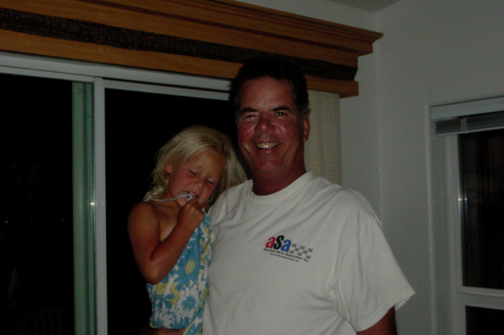 Taylor loves her Grandpa Scott