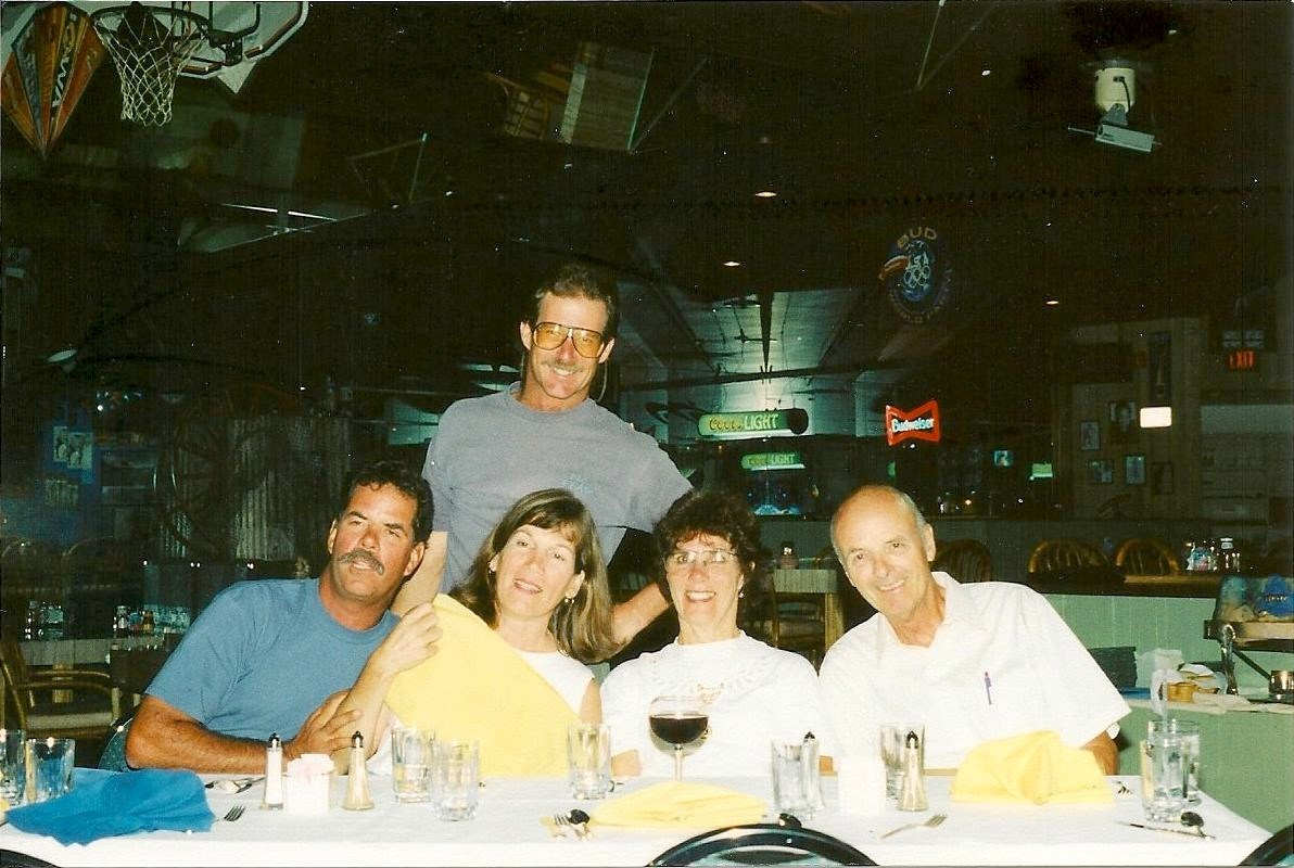1997 Scott, Patty, Beverly, Ray and Pat at Deb and Bruce's rehearsal dinner.