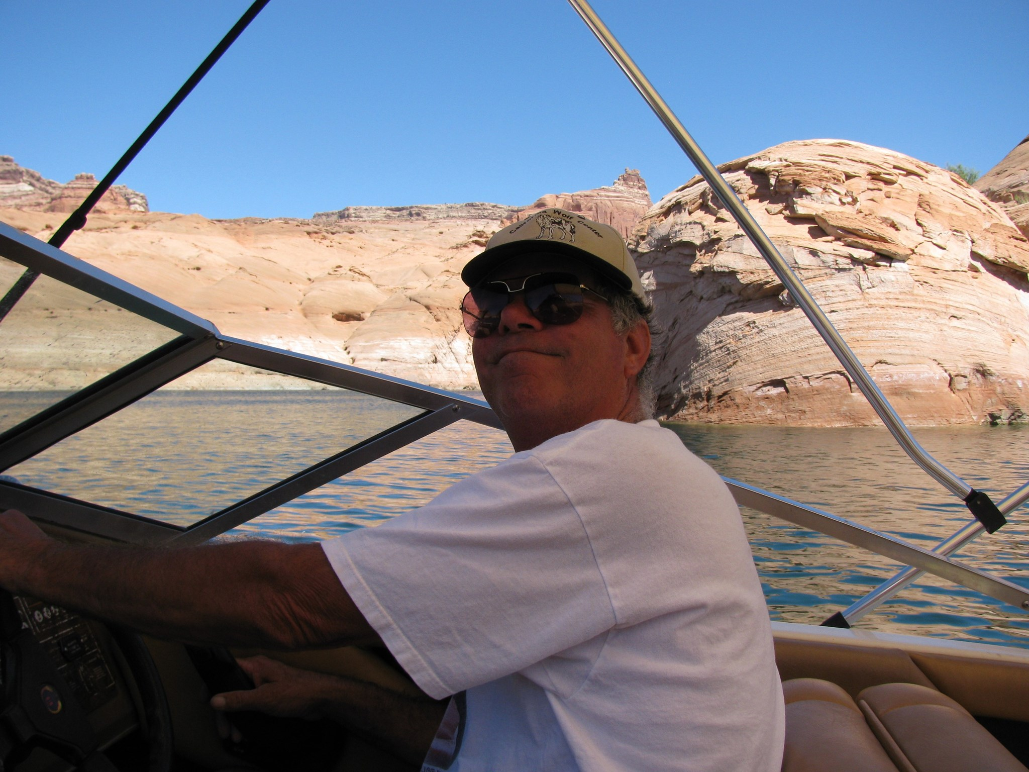 Plying the waters of Lake Powell always brought a smile to Scott