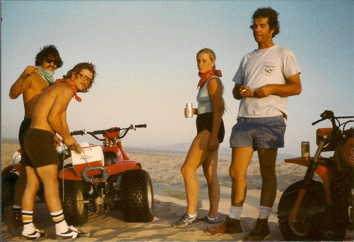 Early Glamis Days (pre-boots and helmets)  Jeff, Pat, Kim and Scott