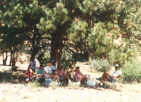 North Rim Grand Canyon, I think? Relaxing with friends.