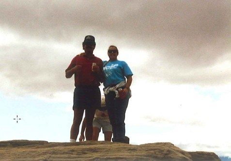 Top of the world, Split Mountain, Scott and I