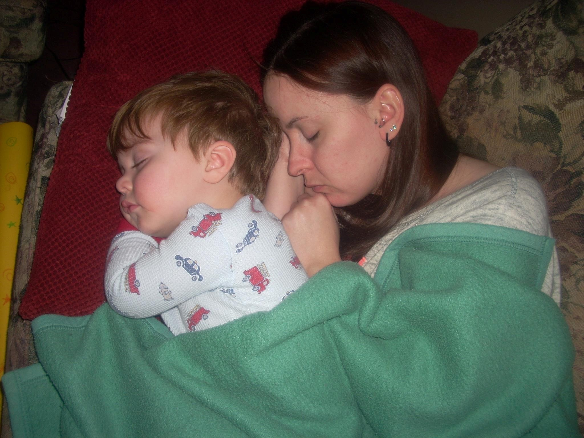 Aunt Jenny and Liam Sleeping