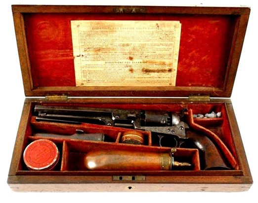 Colt Navy in box 1/4 inch scale made by Nick Criver as his Master Piece