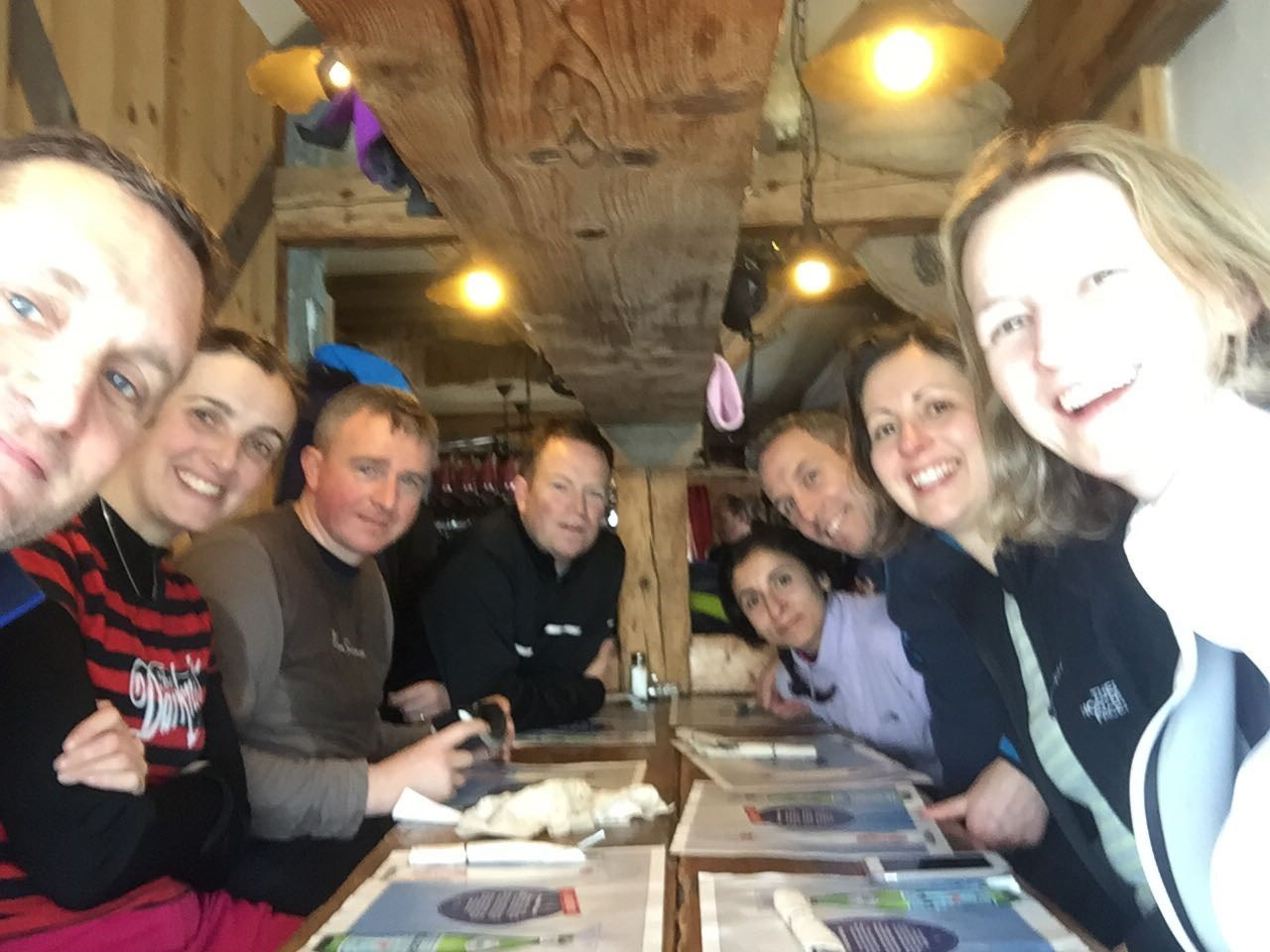 Skiing Feb 2017 - all of us sweaty, wet, and hungry but always happy!