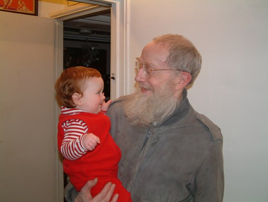 Felix with my daughter Lucy in 2004 - I think she likes the beard!