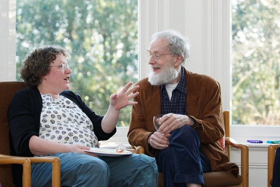 Felix and Claire chatting (2008)